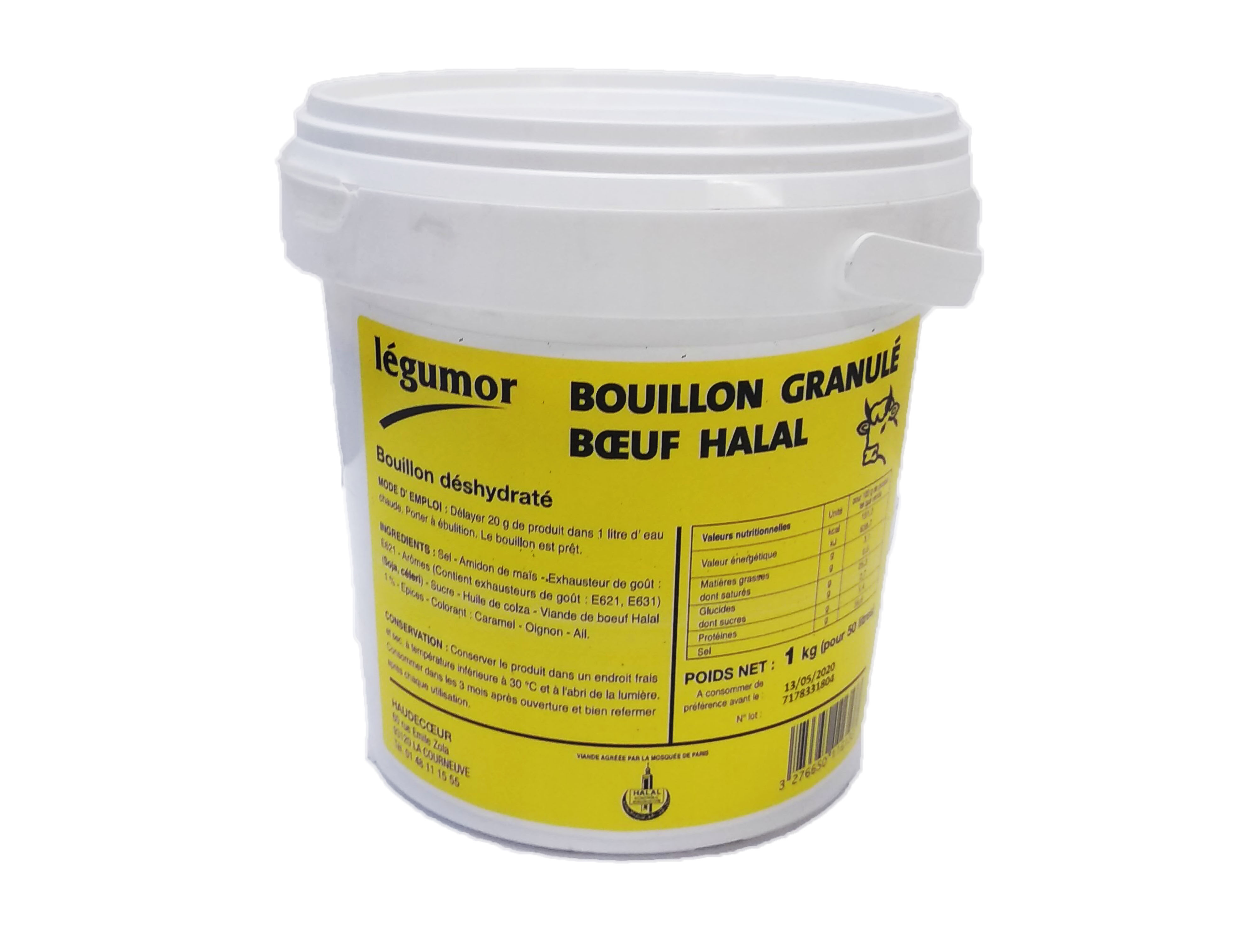 Photo du produit divial les surgelés : BOUILLON BOEUF HALAL 1 KG